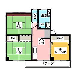 東丘住宅 E棟404号[4階]の間取り