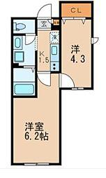 大田区本羽田1丁目計画 bt[103kk号室]の間取り