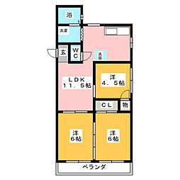メゾン森竹[4階]の間取り