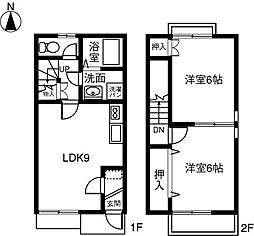 [テラスハウス] 愛知県稲沢市小池2丁目 の賃貸【愛知県 / 稲沢市】の間取り