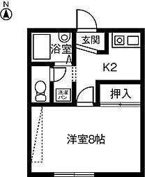 EASTCOURT両郷 B棟[2階]の間取り