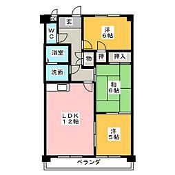 フォレスト勝川[3階]の間取り