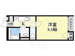 阪急京都本線 高槻市駅 バス13分 大塚下車 徒歩6分の賃貸アパート 2階1Kの間取り