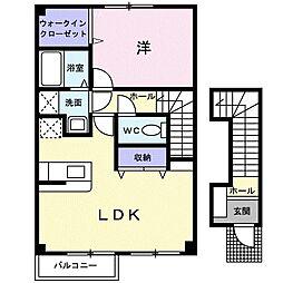 ヌーベル西津田[2階]の間取り