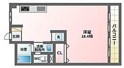 サニーハイツ針中野[2階]の間取り