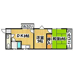 兵庫県神戸市垂水区五色山8丁目の賃貸マンションの間取り