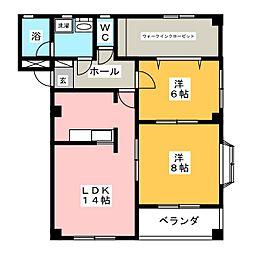 Fortuna Casa 巽[1階]の間取り