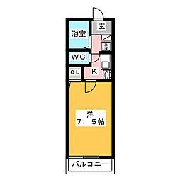 メゾン・ラフィーネ B棟[1階]の間取り