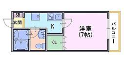 ルネットAdachi弐番館[105号室]の間取り