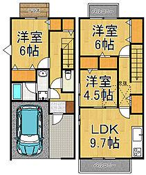 [タウンハウス] 埼玉県越谷市大字大里 の賃貸【/】の間取り