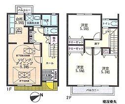 [テラスハウス] 神奈川県横浜市都筑区中川4丁目 の賃貸【/】の間取り