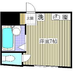 東京都葛飾区宝町2丁目の賃貸アパートの間取り