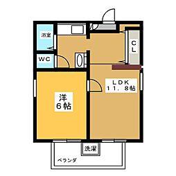 富士レイホービル第5[4階]の間取り