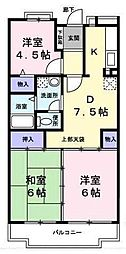 キキョウ第5・三上マンション[2階]の間取り