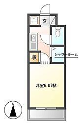 N.S.ZEAL 東別院[3階]の間取り