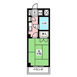 CASA NOAH 名古屋Ⅲ[4階]の間取り