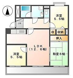 エトワール日進I[1階]の間取り