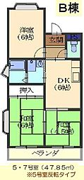 FRハイツB棟[105号室]の間取り