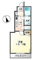 茨城県土浦市小松3丁目の賃貸アパートの間取り