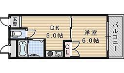 アベノ池田マンション[101号室]の間取り