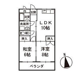 メゾンシミズ 1階[104号室]の間取り