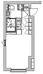東急池上線 戸越銀座駅 徒歩4分の賃貸マンション 1階ワンルームの間取り
