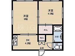 ハウス美島[3階]の間取り