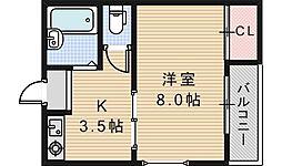 ロイヤル天王寺南[3階]の間取り