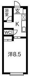 仙台市営南北線 長町一丁目駅 徒歩9分の賃貸アパート 1階1Kの間取り