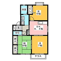 ファミール東新II[1階]の間取り