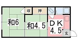 千代田荘[13号室]の間取り
