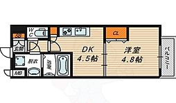 Osaka Metro長堀鶴見緑地線 京橋駅 徒歩5分の賃貸マンション 10階1DKの間取り