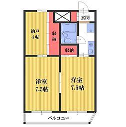 サンパーク南浦和[1階]の間取り