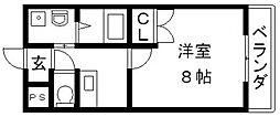 フェニックス東大阪1[407号室号室]の間取り