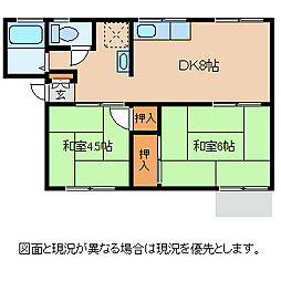長野県諏訪市大字中洲の賃貸アパートの間取り