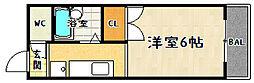 ブリックフォートアシハラ[202号室]の間取り