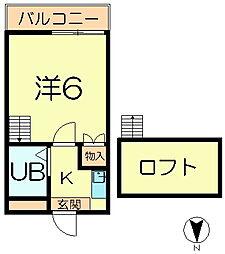 シティパレス富雄元町P-2[1階]の間取り