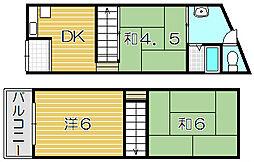 [一戸建] 大阪府摂津市香露園 の賃貸【/】の間取り
