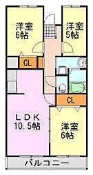 千葉県千葉市中央区末広5丁目の賃貸マンションの間取り