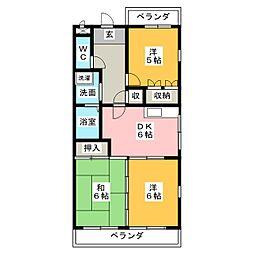 白沢田園マンション[2階]の間取り