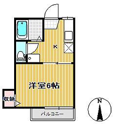 ハイネスB棟[2階]の間取り