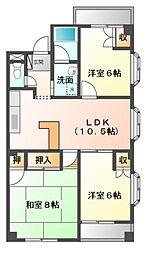 マンションカオル[2階]の間取り