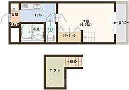 オクト白鷺[2階]の間取り