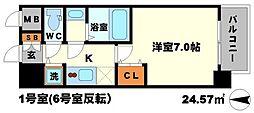 W-STYLE新大阪 9階1Kの間取り