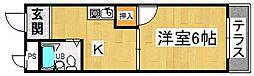 プレアール蔀屋本町[1階]の間取り