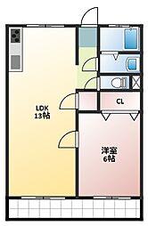 第一大島ビル[2階]の間取り