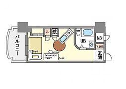 家具、家電付ラ・レジダンス・ド・レーヌ B[3階]の間取り