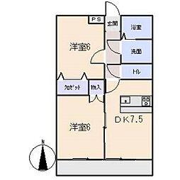 サニーコートOOKAWARA A[2階]の間取り