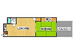 コンフォートMANABE[6階]の間取り