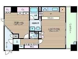 大阪府大阪市北区西天満3丁目の賃貸マンションの間取り